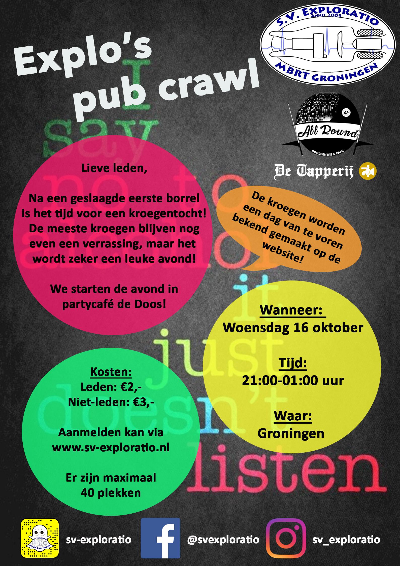 Explo's pub crawl