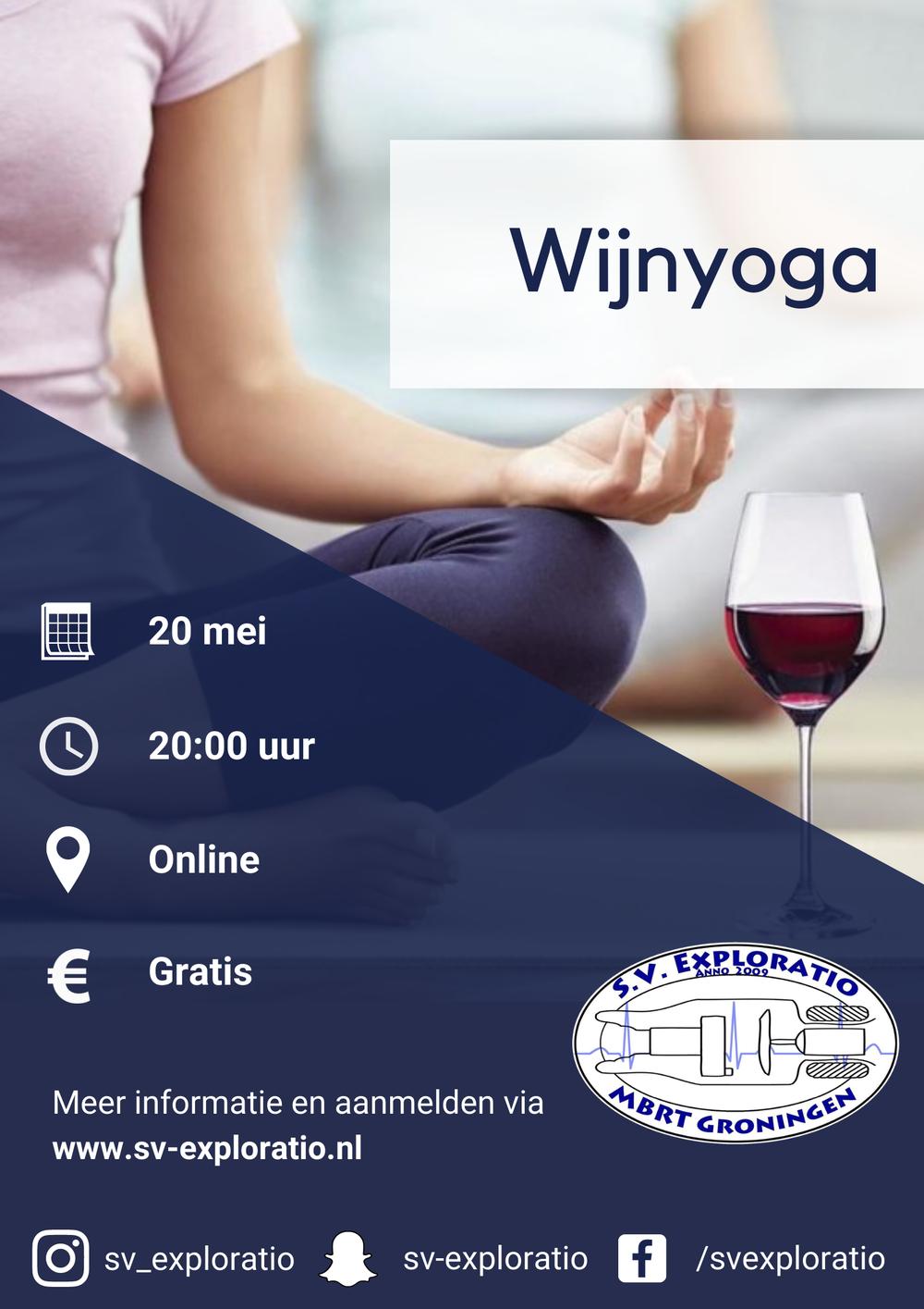 Wijn yoga